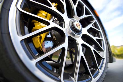 porsche wheel and disc brake